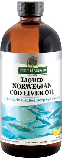 Olej z wątroby dorsza norweskiego w płynie (cytryna, limonka) 16 fl oz (480 mL) Butelka
