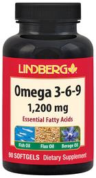 Omega 3-6-9 Fish, Flax & Borage 1200 mg, 90 Softgels