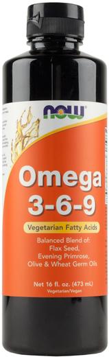 Ómega 3-6-9 líquido, 16 fl oz (473 mL) Frasco