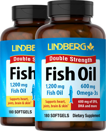 Fish Oil Double Strength 1200 mg, 360 Softgels