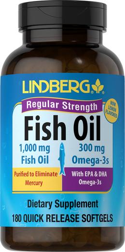 Omega-3 Fish Oil Regular Strength (Lemon), 180 Sg