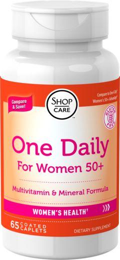 Een per dag voor vrouwen van 50+ 65 Gecoate capletten