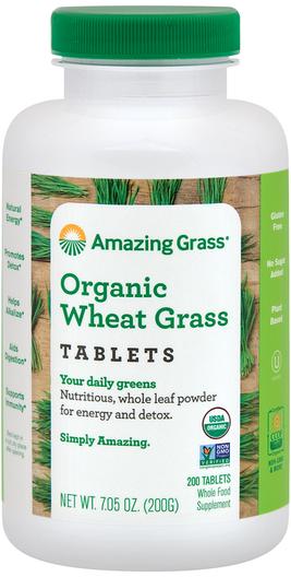 Organiczna Trawa pszenna  200 Tabletki