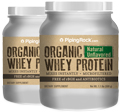 Organic Whey Protein Unflavored free of rBGH 2 Bottles x 1.1 lbs (499 g)