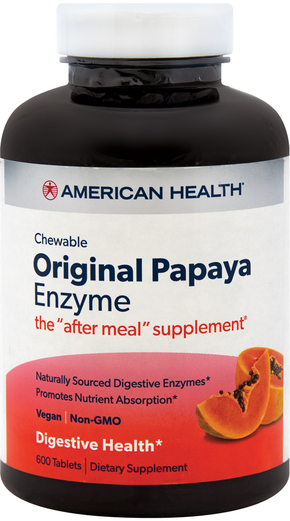 Original Papaya Enzyme Chewable, 600 Tabs