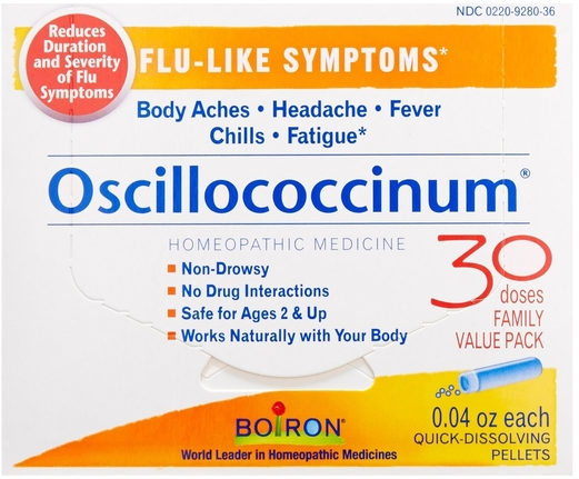 Oscillococcinum Homeo Body Aches, Chills, Fatigue 30 Count