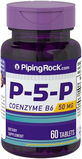 P-5-P (piridoxal 5-fosfato) Vitamina B6 com coenzima 60 Comprimidos