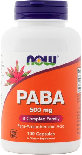 Paba , 500 mg, 100 Cápsulas