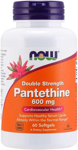 Pantetina (coenzima A), 600 mg, 60 Cápsulas gelatinosas