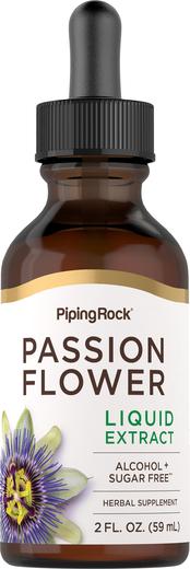 Extrato líquido de passiflora sem álcool, 2 fl oz (59 mL) Frasco conta-gotas