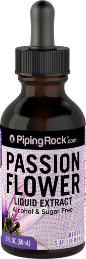 パッション フラワー リキッド エキス、アルコール無添加 2 fl oz (59 mL) スポイト ボトル