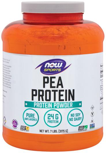 Białko grochu w proszku (bez dodatków smakowych) 7 lbs (3175 g) Butelka