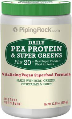 Serbuk Makanan Hijau dengan Protin Kacang Pis 11 oz (312 g) Botol