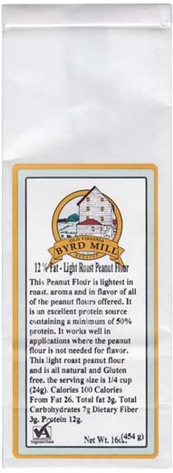 Gluten Free Peanut Flour Roasted 1 lb (453 g) Bag