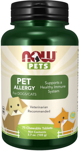 Pet Allergy Chewables for Dogs & Cats, 75 Chewable Tablets