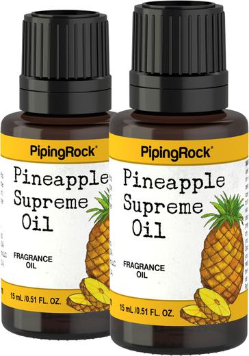 Óleo perfumado supremo de ananás, 1/2 fl oz (15 mL) Frasco conta-gotas, 2  Frascos conta-gotas