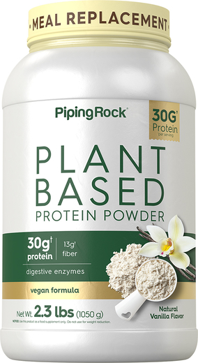 Plant Based Protein Powder Natural Vanilla Flavor, 2.3lbs, 2.3 lbs Bottle