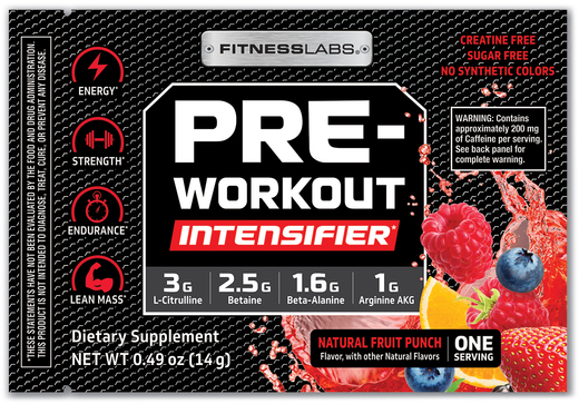 Pre-Workout Intensifier Fruit Punch 0.49 oz (14g) Trial Size