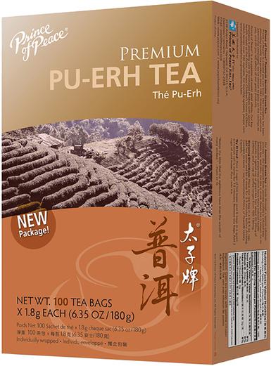 Chá preto PU-ERH Premium, 100 Saquetas de chá