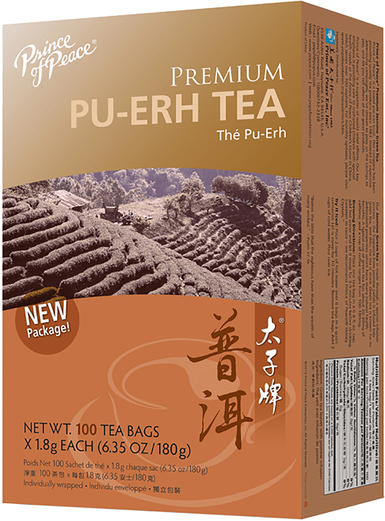 Thé noir PU-ERH Premium 100 Sachets de thé