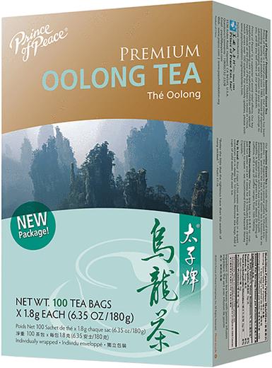 Chá Oolong Premium, 100 Saquetas de chá