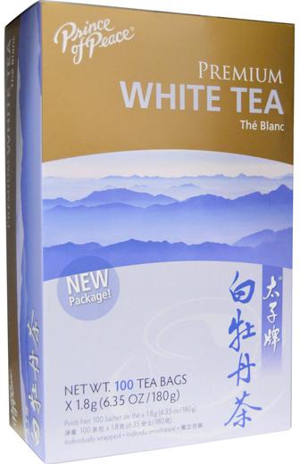Premium White Tea, 100 Tea Bags