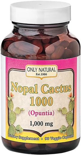 Prickly Pear Nopal Cactus (Opuntia ficus-indica) 1000 mg, 1000 mg, 90 Capsules