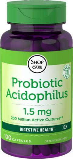 Acidofilo probiotico 250 Milioni di organismi 100 Capsule