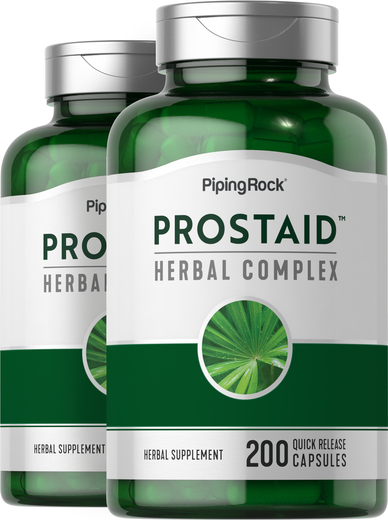 Saw Palmetto ProstAid Herbal Complex 2 Bottles x 200 Capsules