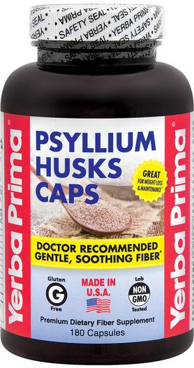 Psyllium Husks Caps, 180 Caps