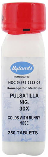 Pulsatilla 30X Homeopathic Colds, Runny Nose 250 Tablets