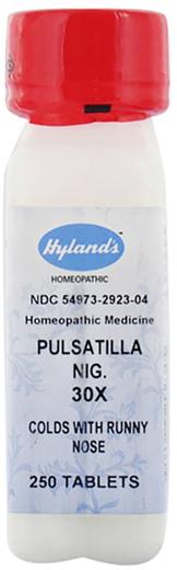 Pulsatilla 30X順勢療法配方用於寒冷,流鼻涕 250 錠劑