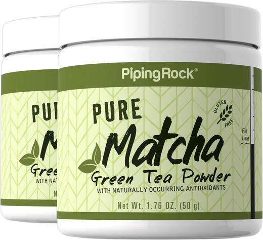 Chá verde Matcha puro, 1.76 oz (50 g) Boião, 2  Jarras