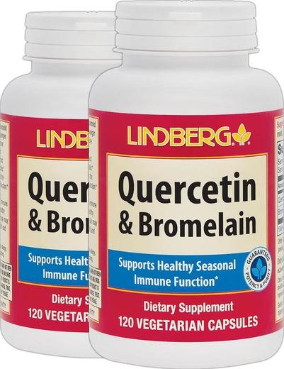 Quercetin & Bromelain, 120 Veg Capsules x 2 Bottles