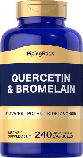 Quercetin Plus Bromelain, 400 mg (per serving), 240 Capsules