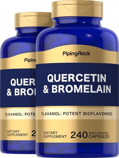Quercetin Plus Bromelain, 400 mg (per serving), 240 Capsules x 2  Bottles