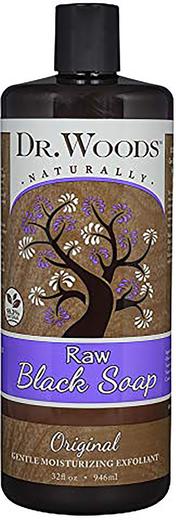 Raw Black Soap With Fair Trade Shea Butter (Original), 32 fl oz