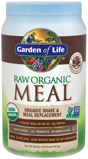 Proszek Raw Organic Meal (czekolada) 35.9 oz (1017 g) Butelka
