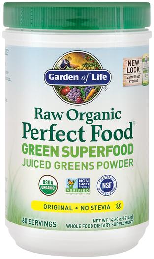 Surowe, organiczne zielone superjedzenie w proszku Perfect Food 14.6 oz (414 g) Butelka