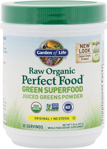 Surowe, organiczne zielone superjedzenie w proszku Perfect Food (oryginalny) 7.3 oz (207 g) Butelka