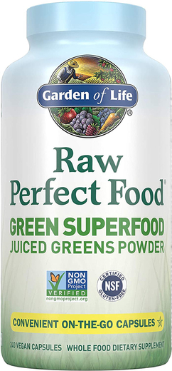 Raw Perfect Food Green Superfood, 240 Caps