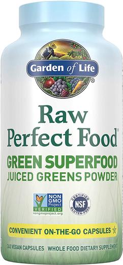 Surowe, zielone superjedzenie Perfect Food 240 Kapsułki
