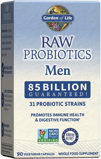 Surowe probiotyki dla mężczyzn 90 Kapsułki wegetariańskie
