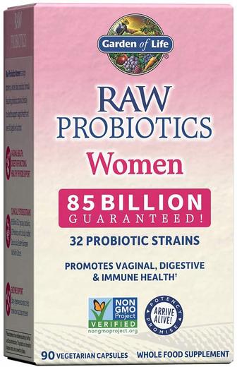 Surowe probiotyki dla kobiet 90 Kapsułki wegetariańskie