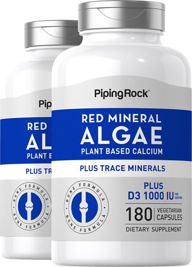 Red Mineral Algae (Aquamin Plant Based Calcium), 180 Vegetarian Capsules