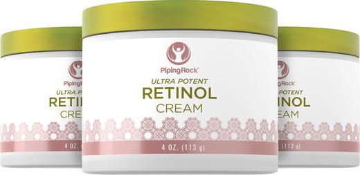 Creme de retinol (creme de vitamina A ultra potente), 400,000 IU per Jar IU, 4 oz (113 g) Boião, 3  Jarras