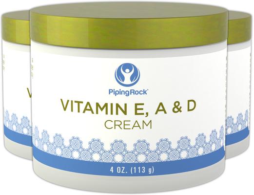 Creme revitalizante de vitamina E, A e D, 4 oz (113 g) Boião, 3  Jarras