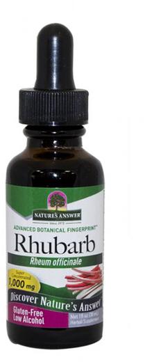 Extrato líquido de raiz de ruibarbo 1 fl oz (30 mL) Frasco conta-gotas