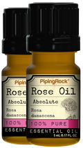 Rose Absolute 100% Pure Essential Oil 2 Dropper Bottles x 5 ml (0.17 fl oz)