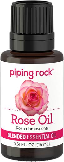 Mistura de óleo essencial de rosas, 1/2 fl oz (15 mL) Frasco conta-gotas